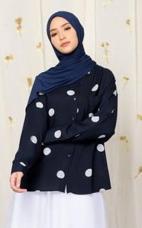 Blouse MECANISM - VIONNA TOP CIRCLE DEEP NAVY