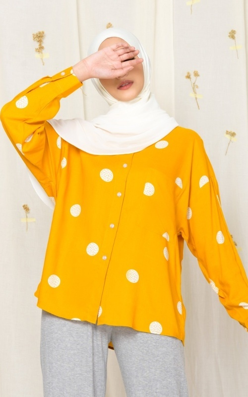 Blouse - MECCANISM - VIONNA TOP CIRCLE YELLOW - YELLOW