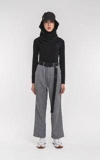 Pants Belted Straight Pants