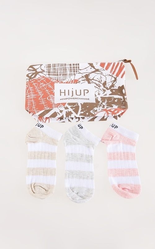 Socks - Stripes Ankle Socks All Color Set - Multicolor