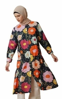 Tunic Agnia Black Flower