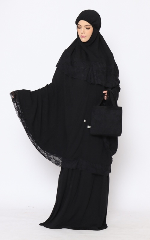 Praying Set - MSBP 150 - Sabeen BPSP Special Collection for HIJUP - Black