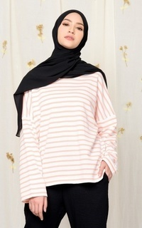Blouse MECCANISM - VIERA TOP STRIPE PEACH