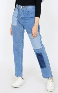 Pants Longpant Denim Patched