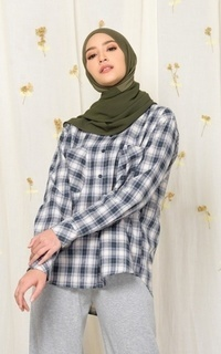 Blouse MECCANISM - YAKKA TOP SQUARE GREY
