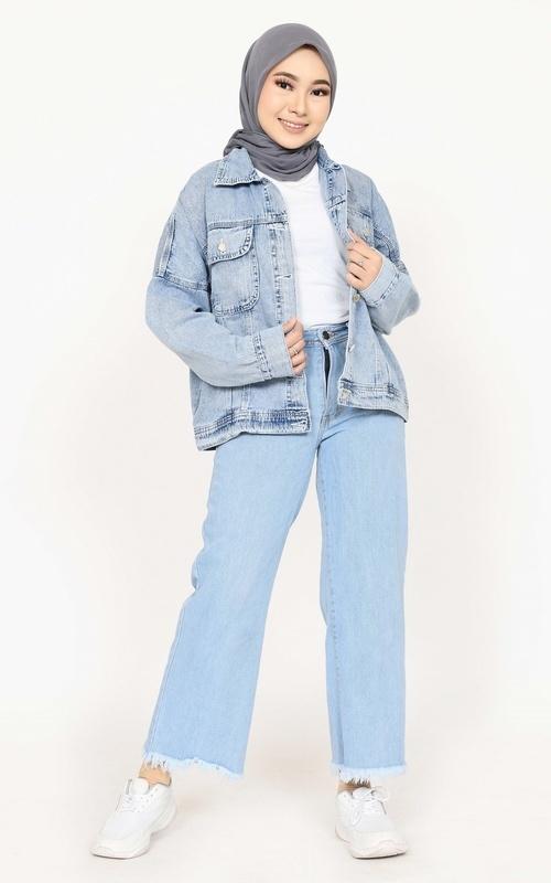 Jacket - Jacket Oversized Ria - Light Blue