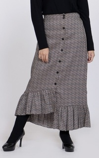 Rok Long Skirt Checkered Amy