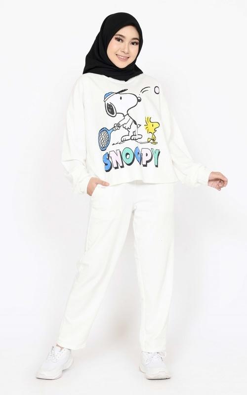 Setelan - SET Sporty Snoopy - White