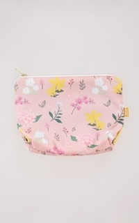 Tas Pouch Bunga Indonesia Dusty Pink
