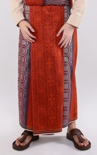 Sajadah Sarung ATLAS Idaman Jacquard Classic Merah Abu