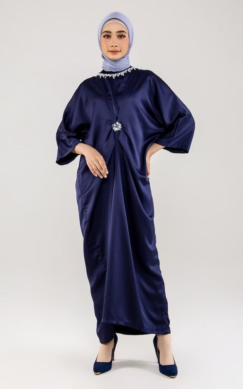 Gamis - Raya Dress Navy - Navy