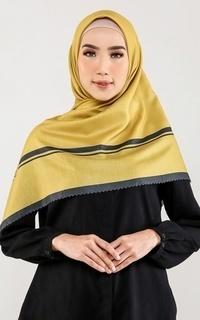Hijab Motif Kerudung Kizee Mustard