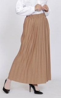 Rok Long Skirt Plisket Basic Mira 2
