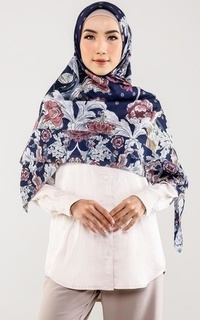 Hijab Motif The Royale Voal Square XL - Navy