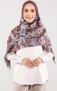 Hijab Motif The Royale Voal Square XL - Brown