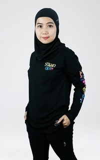 Sport Trijee Long Sleeve Tee Stand Out - Black