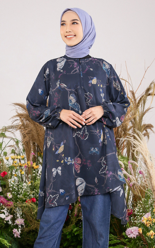 """Blouse - Cethosia Blouse for HIJUP """"Defect"""" - Multicolor - Black"""