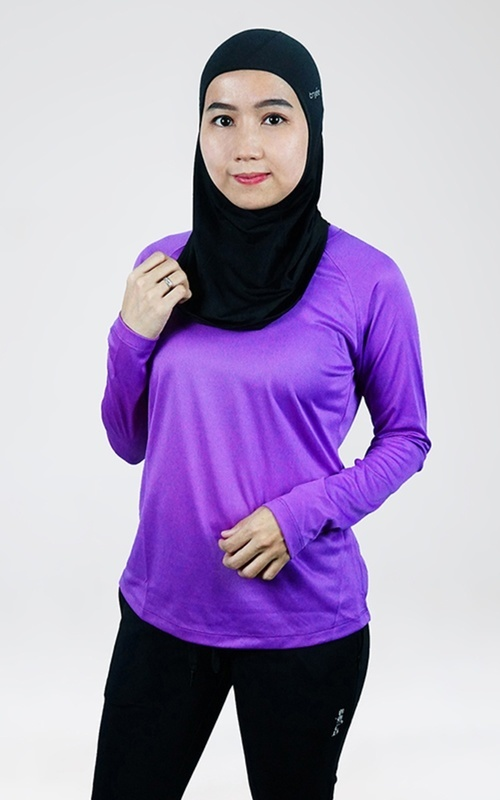 Sport - Trijee Women Long Sleeve Tee Gretta - Purple - Purple