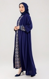 Cardigan Navy Blue Maxi Outer