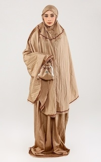 Praying Set Mukena Travelling Plain Light Brown