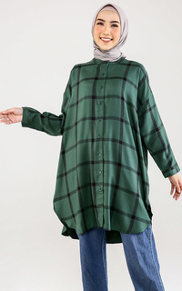 Kemeja Green Plaid Shirt