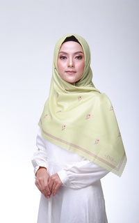 Printed Scarf Lime Product