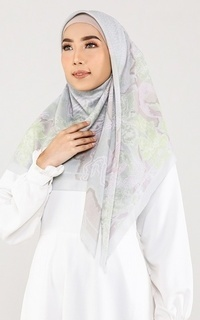 Printed Scarf Japan - Jade Lime