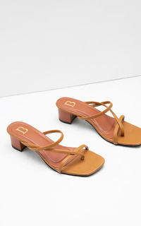 Shoes Sophie Ariana Thin Strap Febria Heels Brown
