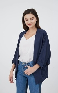 Cardigan Sophie Indira Batwing Outer Navy
