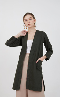 Cardigan Sophie Hilma Long Outer Army