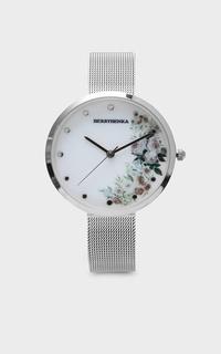Jam Tangan Sophie Cicilia Bright Floral Greyish Silver