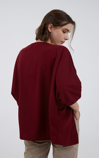 Cardigan Sophie Indira Batwing Outer Maroon