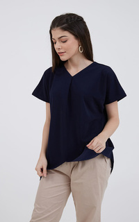 Blouse Sophie Manoo Tucked Blouse Navy