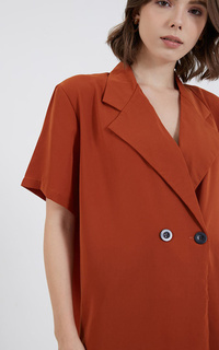 Blouse July Tailor Top Terracota