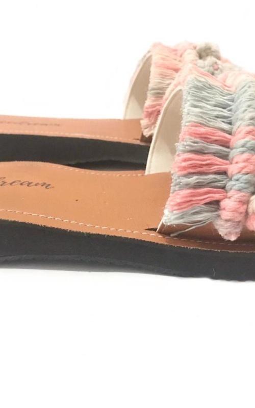 Shoes - Sandal Macrame Ombre Cotton Candy - Rainbow