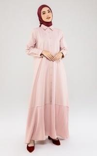 Gamis Pleats Dress Pink