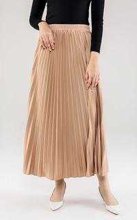 Skirt Basic Pleats Skirt Earth Tone