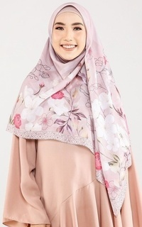 Printed Scarf Le Hijab Versailles - French Rose