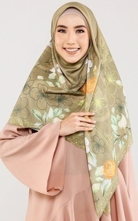 Printed Scarf Le Hijab Versailles - Golden Olive