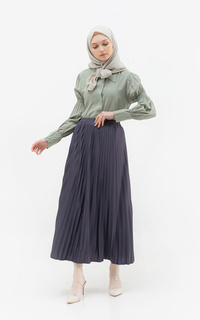 Skirt Jana Pleats Skirt / Dark Grey