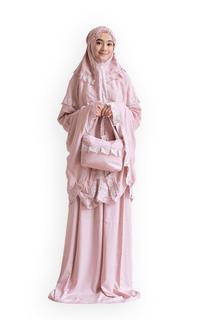 Praying Set Mukena Lamya Katun Rayon Premium (Soft Pink)