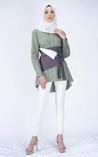Blouse Tunique Wear | Kyonna Blouse Set with Obi Belt | Hazel Series