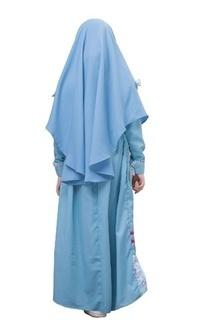 Pakaian Anak Gamis Malihah Olympic Blue XL