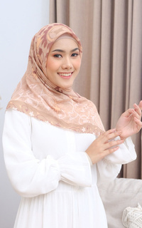 Printed Scarf Adha Collection 2021 in Light Beige