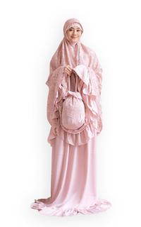 Praying Set Mukena Premium Silk Zaynab (Pink)