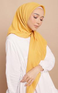 Plain Scarf Diario - Hijab Wanita Plain Scarf Voal Yellow Series For Hijup