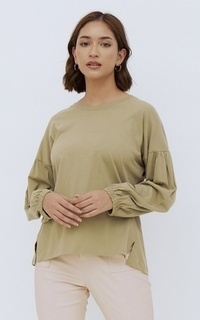 Shirt NONA March Tee Long Sleeve Olive Green