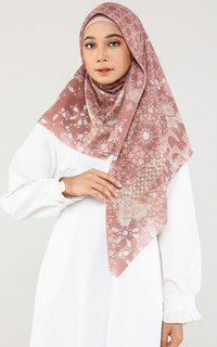 Printed Scarf Chassa Toast (Voal Square)
