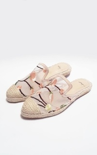 Shoes Peony Mules White