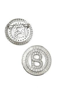 Brooch Victorian Round Brooch - Silver